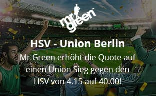 Quote 40 für Union Berlin von Mr Green Sport