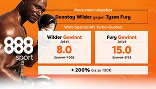 888sport Turbo Quoten bei dem Boxkampf Wilder vs Fury