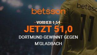 Mega Quote auf BVB Sieg in dem nächsten Bundesligaspiel bei Betsson